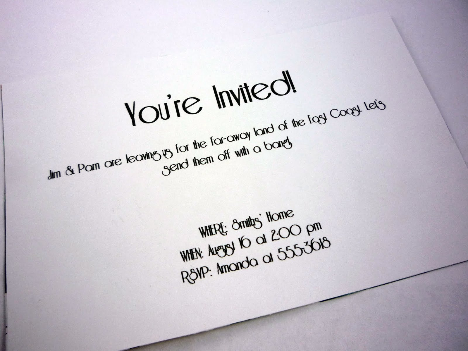 Going-Away Party Invitation Idea | eatlovedesign